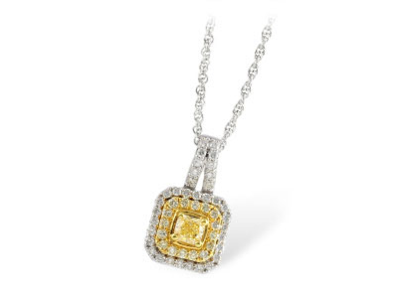 .57 TW Yellow Diamonds .89 TW Necklace