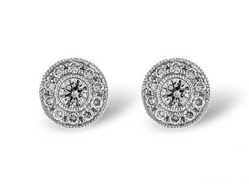 14 K .50 TW Diamond Earrings