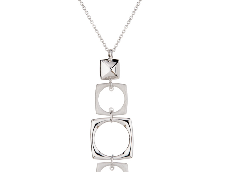 Studded Squares Necklace by Frederic Duclos